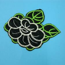 Flower Floral Iron on Sew Patch Cute Applique Badge Embroidered Applique Dress