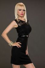 New Womens Black Lace Dress with Gold Belt Ladies Work Party Dress Aus Seller