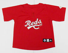 Cincinnati Reds Shirt Childrens L Adidas Large Red MLB Apparel Joey Votto