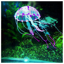 "5.5"" Glowing Effect Artificial Jellyfish Fish Tank Aquarium Decora Ornament Nice"