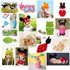 2015 NewBorn Baby  Crochet Knit Costume Clothes Photo Photography Prop Hat Set