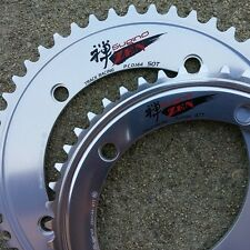 SUGINO ZEN SILVER TRACK 144BCD CHAINRING 44-55T FIXED GEAR BIKE NJS