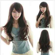 New Fashion Long Women's Curly Brown/Black Wave Wigs Full Hair Cosplay Wigs