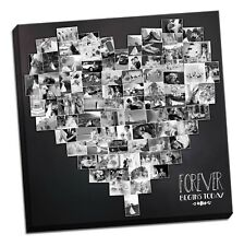 BEAUTIFUL PERSONALISED HEART SHAPEDCANVAS PHOTO COLLAGE BOX FRAMED CANVAS PRINT