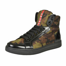 Prada Men's Camouflage Hi Top Fashion Sneakers Shoes Sz 7 7.5 8 8.5 9 9.5 10 11