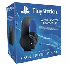 Official Sony PlayStation Gold PS4 PS3 PS Vita Wireless Stereo Headset 2.0