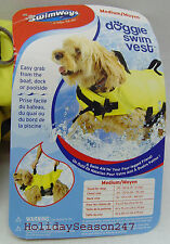 SwimWays Doggie Swim Vest Floatation Aid Water Support Device For Your Dogs