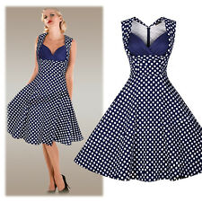 NEW Vintage Retro Polka Dot 50s 60s Rockabilly Housewife Party Pinup Swing Dress