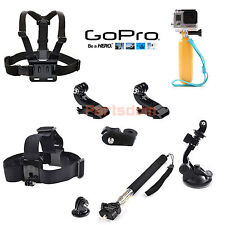 Float Hand Grip Suction Cup Chest Head Strap Mount Selfie Monopod For Gopro Hero
