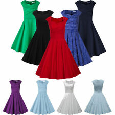 Vintage Retro 50s 60s Pinup Housewife Rockabilly Swing Evening Party Prom Dress