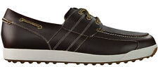 FootJoy Contour Casual Golf Shoes 54332 Brown Closeout Mens Boat Shoe New
