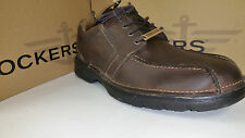 Dockers Lawtner Light Weight Chocolate Leather Casual Shoes size 7-12