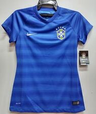 BNWT BRAZIL WOMENS AWAY WORLD CUP KIT FOOTBALL SOCCER JERSEY TRIKOT 2014