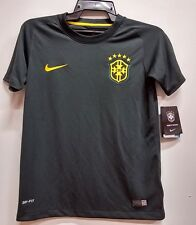 BNWT BRAZIL 3RD AWAY WORLD CUP 2014 YOUTH KIDS BOYS FOOTBALL SOCCER JERSEY