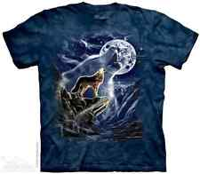 THE MOUNTAIN WOLF SPIRIT MOON WOLVES HOWLING NIGHT LIGHT DOG T TEE SHIRT S-5XL