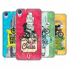HEAD CASE BICYCLE LOVE SOFT GEL CASE FOR HTC DESIRE 820