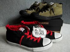 NWT $40. MSRP, Boys Converse Chuck Taylor All Star No Time To Lace Canvas Shoes