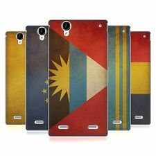 HEAD CASE VINTAGE FLAGS SET 5 SOFT GEL CASE FOR SONY XPERIA T2 ULTRA