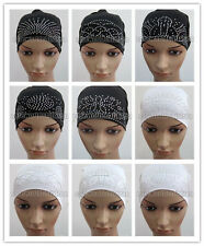 New Style Hot Drill Muslim Tube Caps Islamic Underscarf Hats Arab Headwear
