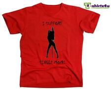 I SUPPORT SINGLE MOMS Funny College Party Strip Club Stripper T-Shirt NEW Red