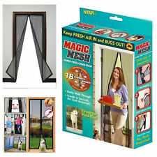 Magic magnetic insect door screen net fly bug mosquito Insecte Maille Rideau de garde