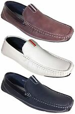 New Men Driving Shoes Moccasins Causal Leather Line Slip On Loafers Neal03