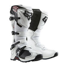 Fox Racing White Comp 5 Adult Mens Youth Boys Dirt Bike Boots MX ATV 2015