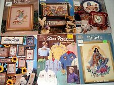 ASSORTED CROSS STITCH BOOKLETS, YOU CHOOSE! WESTERN, FARIES, ANGELS & MORE H