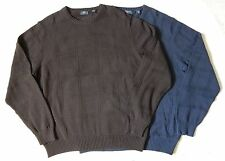 NEW Arrow Mens Pullover Crewneck Sweater Brown Navy Size XL