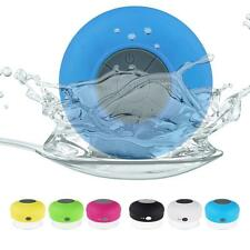 NEW Waterproof Wireless Bluetooth Handsfree Mic Suction Speaker Shower Car Mic