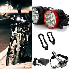 8000Lumens 8xCree XM-L T6 LED MTB Bike Bicycle Light  HeadLamp+Charger