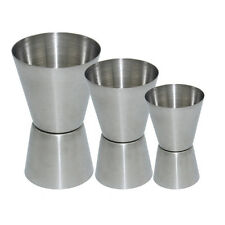 1/3x Double Dual Sided Jigger Measuring Cup Stainless Steel Bar Wine Jigger SDE