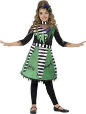 Kids Frankie Monster Girls Halloween Party Fancy Dress Childs Costume Outfit