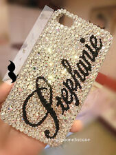 Personalized name Bling Rhinestone iphone 6 6 plus 5 5s 5c Samsung case clear