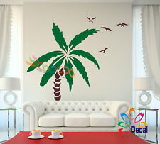 "Wall Decor Decal Sticker Removable Palm Trees 72""H x 50""W Two colors one tree"