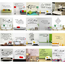 DIY Kid Removable Wall Sticker Quote Decal Mural Art Vinyl Nursery Home Decor