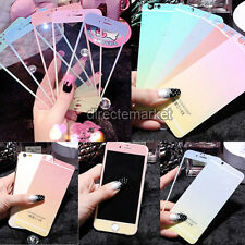 Glitter Colored Front+Back Tempered Glass Screen Film For iPhone 5/5S/6/6 Plus