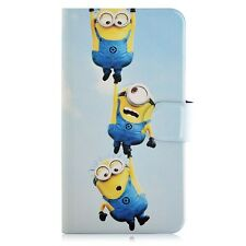 Minions Despicable me PU Leather Flip Case Cover For Samsung Mobile 45