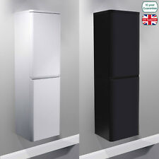 WALL HUNG MDF BLACK / WHITE GLOSS BATHROOM SIDE CABINETS STORAGE FURNITURE