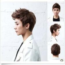 Sexy Korean Boy's Handsome Short Straight Cosplay Party Hair Wig Full Wigs