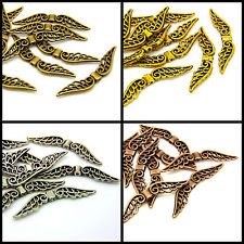 10 x 50mm Large Tibetan Silver Wing Spacer Charms Xmas Wings Jewellery Angel ML