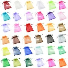 50 pcs Organza Wedding Favor Gift Bags Jewellery Pouch Candy Bag 9*12cm