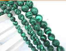 Fashion 50/100/500pcs beautiful round bead malachite charms spacer bead