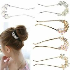 Bridal Wedding Inlaid Crystal Rhinestone Flower Hair Clip Comb Pin Headband New
