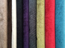 TOP QUALITY CHENILLE UPHOLSTERY FABRIC  (140cm WIDE) - 10 COLOURS