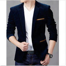 New Fashion Men's Slim Fit Stylish Casual Two Button Suits Coat Jacket Blazers