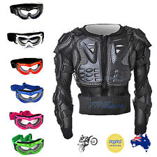 JUNIOR/KID/TEENAGER/BOY GOOGLES & BODY ARMOUR MOTORCYCLE/DIRT/PIT/BIKE/QUAD MX