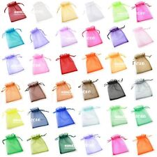 50 pcs Organza Wedding Favor Gift Bags Jewellery Pouch Candy Bag 7*9cm