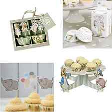 Baby Shower Christening Party Cupcake Cases,Toppers,Cake Stands, Lots of designs