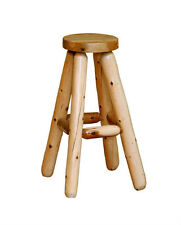 White Cedar Rustic Bar Stool *Size & Stain Options*